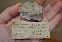 "A rare Roman stone fragment from the ""Baths of Caracalla"" Rome, old Victorian collection. SOLD"